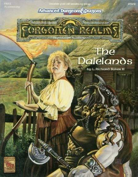 AD&D -  THE DALELeS TSR 9392  Forgotten Realms FRS1 without map  miglior reputazione