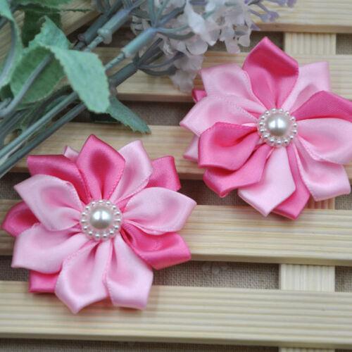 20pc Satin ribbon flower bows Appliques Craft Wedding Decoration A268