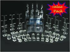 Clear Acrylic Jewelry Display Stand Set for Earrings Rings Bangle Watch Riser