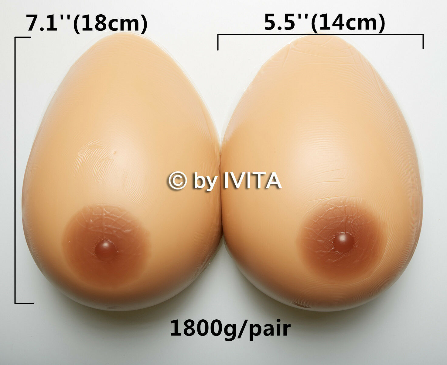 F Cup1800g Realistic Silicone Breast Forms Cross Dresser Transvestite TG Boobs