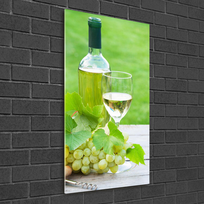 Immagine muro ARTE-STAMPA su duro-vetro ad alta Kant 50x100 uva e vino