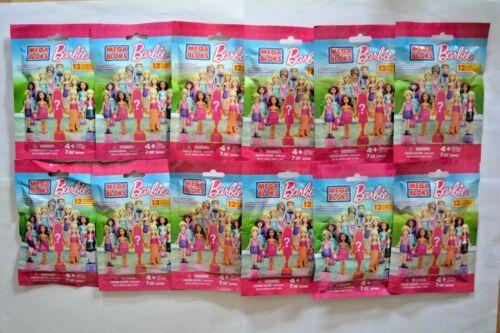 Mega Bloks Barbie//12 pochettes neuf dans sa boîte avec 1 personnage//par 7 pièces//Année 2014 sammelfiguren
