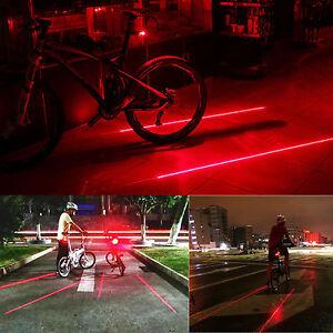 5-LED-2-Laser-Bicicletta-Bici-Bici-Luci-posteriori-posteriori-Lampada-spia-po-IE