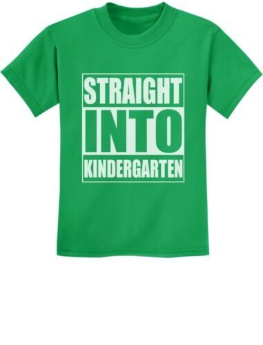 Straight Into Kindergarten Back To School Gift Youth Kids T-Shirt Funny Present