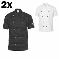 Dnc Traditional Chef Jacket 2x- Short Sleeve Restasurant Cook Clothes Uniform