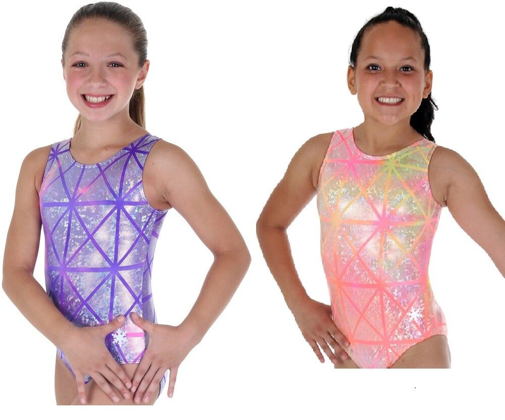 NEW  Laser Tag Gymnastics or Dance Leo by Snowflake Designs - orange or Purple