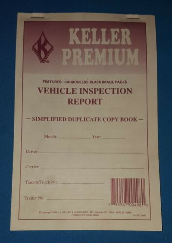 Lot of 5 Keller Vehicle Inspection Report Books  147-B Carbonless copies.