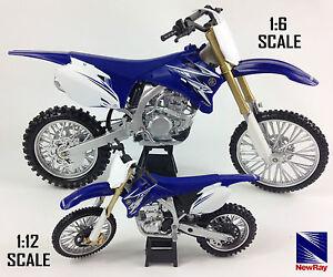 Yamaha-YZF-450-Moto-Mx-Motocross-Norev-Jouet-Modele-Velo-New-Ray-Bleu