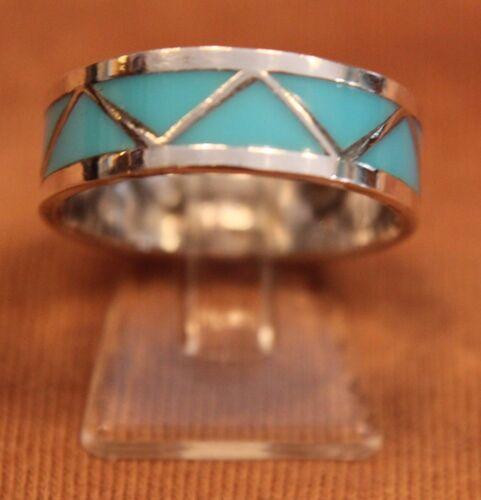 Freundschaftsring Ring Türkis Silber Zuni Wedding Band Indianer