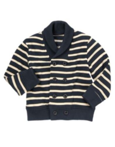 GYMBOREE LOCH NESS HEROES NAVY STRIPED ACTIVE JACKET 4 5 6 10 12 NWT