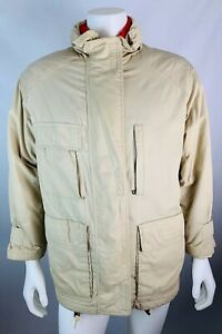 Vintage-Eddie-Bauer-Medium-Mens-Coat-Goose-Down-Safari-Parka-Removable-Liner