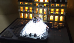 Lightling custom led lighting kit for lego louvre power box new