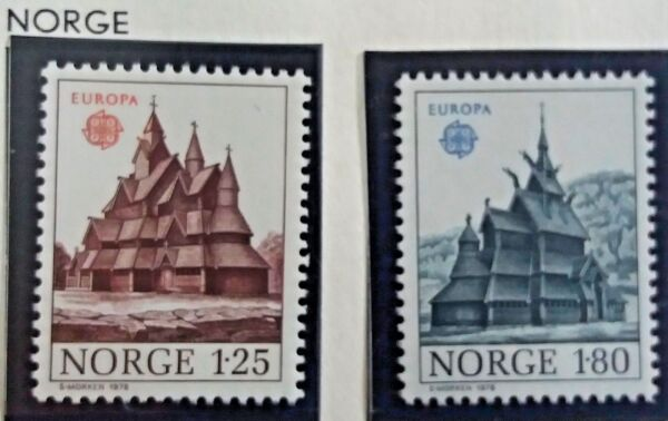 2 X Timbre Stamp Norvège Norge Norway 1978 Yt 725 726 Europa Cept Neufs