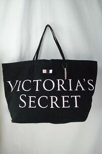 Tote Nwt Pink Black Large maat Victoria's Logo Secret qTTBOw7