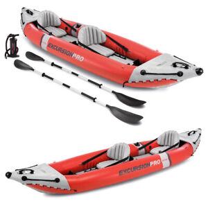 INTEX Excursion Pro K2 Kajak Set Schlauchboot + Paddel + Pumpe für 2 Personen