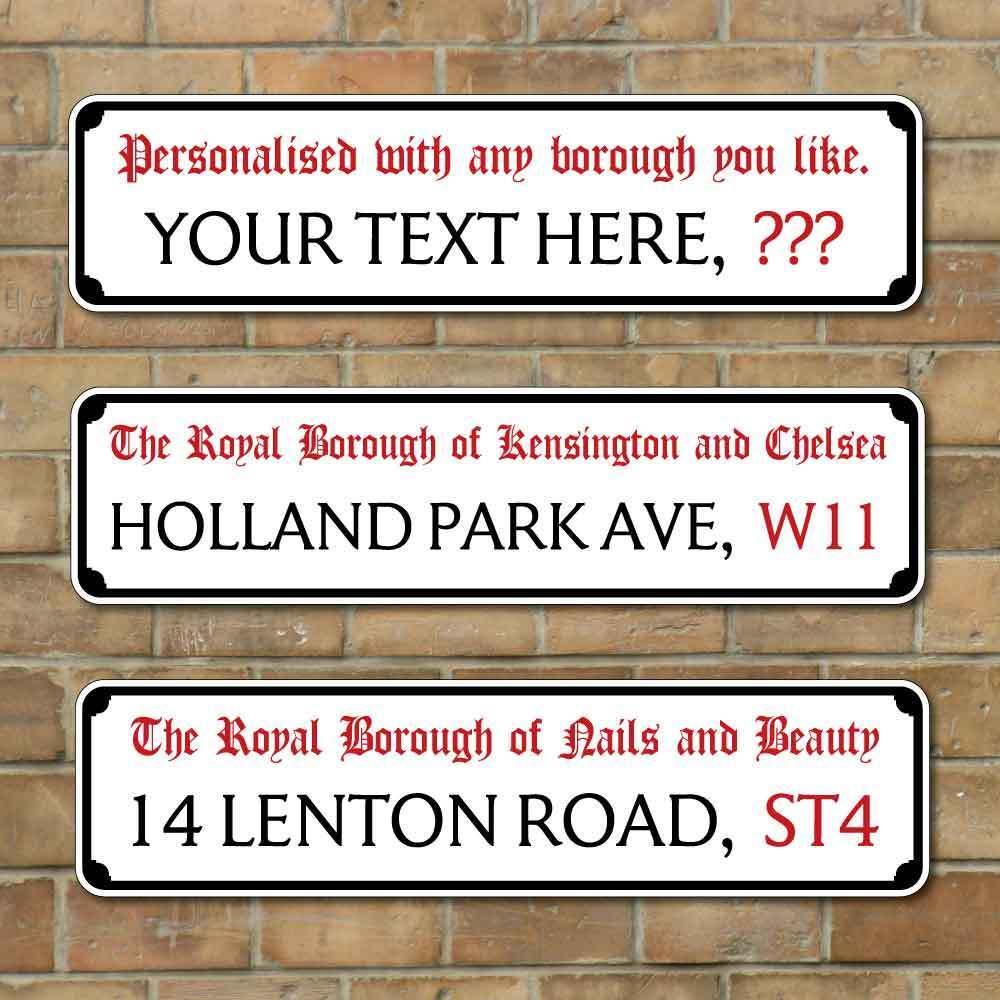 Personnalisé vieux londres signe rue, de rue, signe route de Londres Vintage signe forme boîte aux lettres a9f8fc