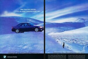 1996-BMW-325xi-with-Pengiun-Original-2-page-Advertisement-Print-Art-Car-Ad-J806