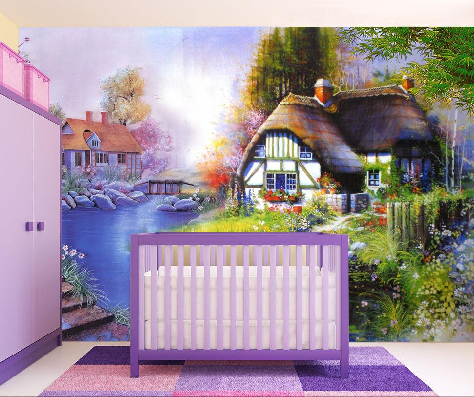 3D Champ Paysage Photo Papier Peint en Autocollant Murale Plafond Chambre Art