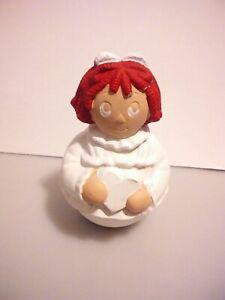 Vintage Raggedy Anne Ceramic Figure Handpainted Sculpture