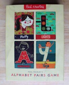 HonnêTeté Alphabet Paire Jeu Par Paul Thurlby-kids Reconnaissance Jeu De Paires-afficher Le Titre D'origine Technologies SophistiquéEs