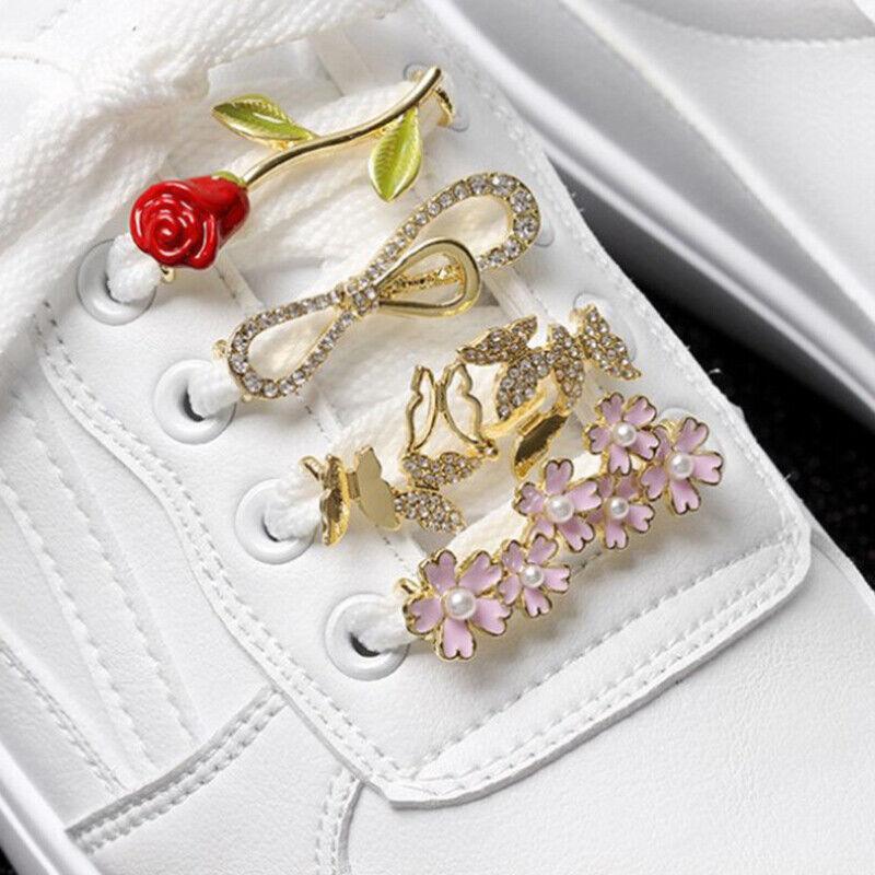 1pcs Decoration Laces Glitter Clip Shoe Accessories Women Shoes DecoratiSG