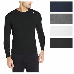 Champion-Men-039-s-Double-Dry-Compression-T-Shirt-Long-Sleeve-Athletic-Baselayer-Tee