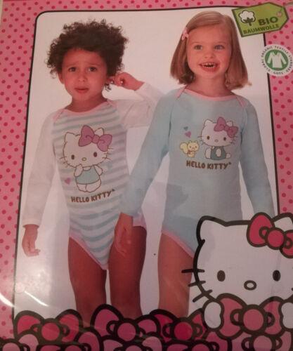 2er Pack Hello Kitty Baby Bosy/'s langarm 62//68 74//80 86//92 98//104