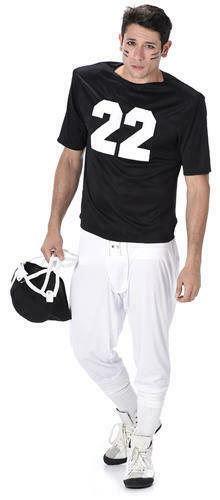 American Footballer Mens Fancy Dress Sports USA Superbowl Adults Costume Outfit