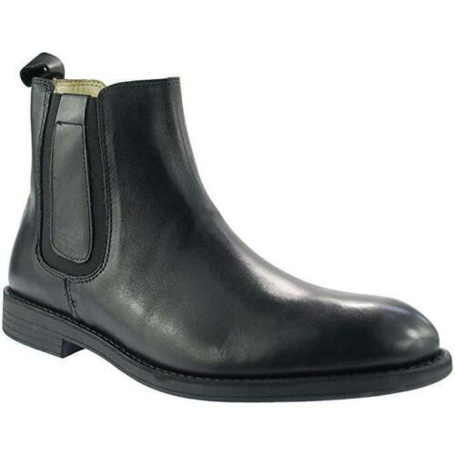 Tredflex TF4136A Black Real Leather Pull On Ankle Chelsea Boots Smart Work Shoes