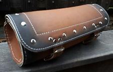 Toolbag Werkzeug LEDER Lenker Tasche Rolle Harley Chopper NEU antik braun