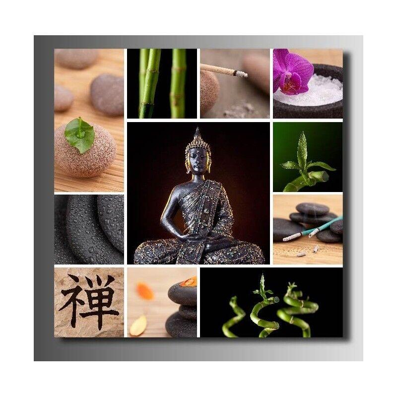 Quadro tessuto decocrazione quadrato quadrato quadrato Budda ciottolo Bambù 9042675 9460a1