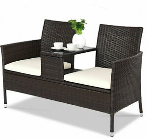 2-Seat-Outdoor-Patio-Deck-Rattan-Cushioned-Furniture-Set-Chair-Tea-Table-Bench