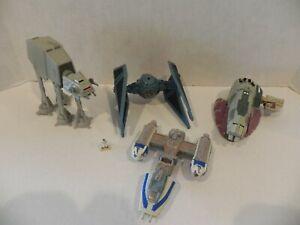 Star-Wars-Micro-Machines-Action-Fleet-Lot-of-3-TIE-Interceptor-AT-AT-Y-Wing-Blue