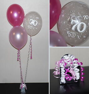 Image Is Loading 70th Birthday Balloons DIY Party Decoration Kit Clusters
