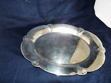 "Wm. Rogers # 411 Silver Plate 11"" Oval Serving Platter"