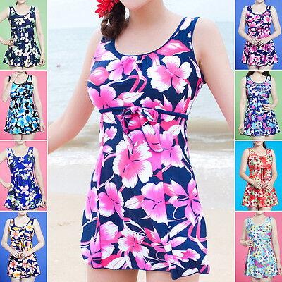 Ladies Swimwear One Piece Swimdress Tankini AUS Size 14 16 18 20 22 24 #1009