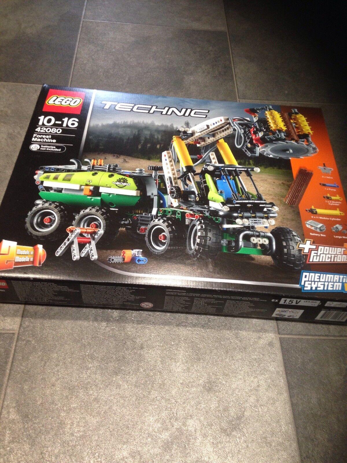 Lego 42080 Technic Bosque máquina Carretilla Elevadora Camión de juguete, 2 en 1 Fun Modelo, Alimentación..