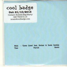 (EQ718) Mala, 'Como Como' Feat Dreiser & Sexto Sentido - 2013 DJ CD