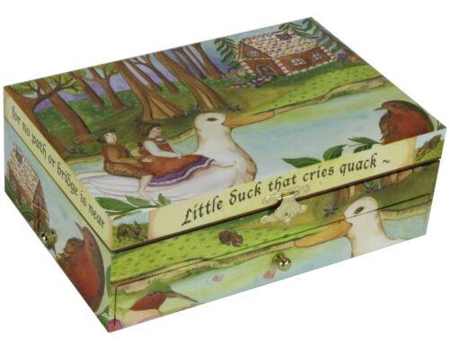 großes Schmuckkästchen Hänsel /& Gretel mit Ente /& Spiegel Schubfächer Spieluhr