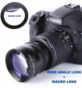 Details About Wide Angle Lens Macro Kit For Canon Eos Rebel T5 T5i T6 Kit With 18 55mm Stm