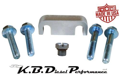 KBDP 6.6l Duramax Fuel Filter Spacer /& Billet Bleeder Screw Chevy GMC 2001-2016