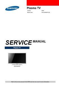 samsung pn51d8000 pn51d8000ff smart plasma tv service manual ebay rh ebay com Samsung Plasma TV Schematics Samsung Plasma TV Schematics