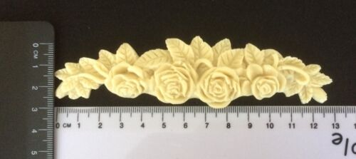 Vintage Shabby Chic DECO ROSE SWAG Moulage