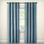 "Rowland Blackout Curtain Panel Eclipse Blue 84/"" x 52/"" 1 Grommet One Panel"