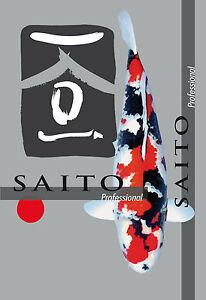 Saito Professional Koi food, food de croissance Aliment de première qualité pour la natation Koi 5kg 5mm