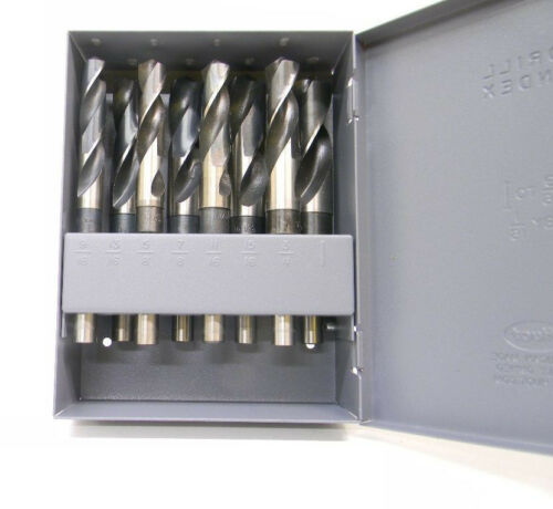 """New Republic USA Silver /& Deming 8pc Drill Set Index 9//16/"""" to 1/"""" X 16ths 8370008"""