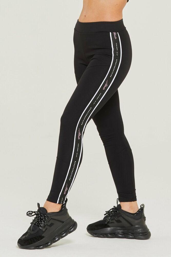 Bon à Rien Pour Femme Authentic Noir Leggings Petit Coton Lycra Femmes Filles