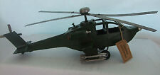 Piatto in stagno modello di un elicottero VINTAGE GRANDE ESERCITO/Verde/ornamento/in Scatola Regalo