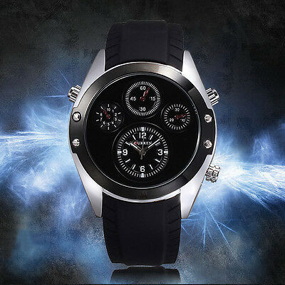 Curren Stylish Quartz Wrist Watch For Men Fashion Black Silver