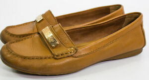 Coach-New-York-Women-039-s-Fredrica-7-1-2-Brown-Leather-Slip-On-Loafer-Shoes